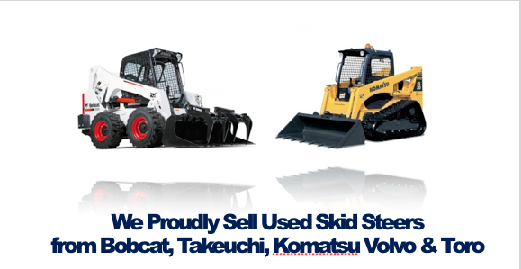 Buy Used Skid Steers from Bobcat Takeuchi, Komatsu, Volvo Toro Rochester NY Ithaca NY