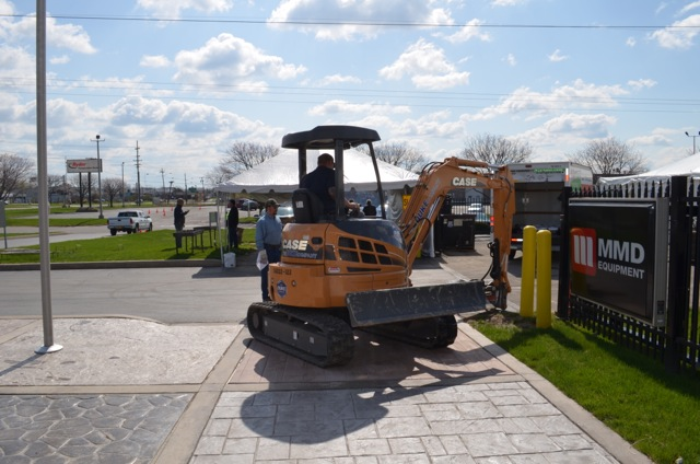 Duke Company Compact Excavator Rental at Customer Event on April 26 - 2013