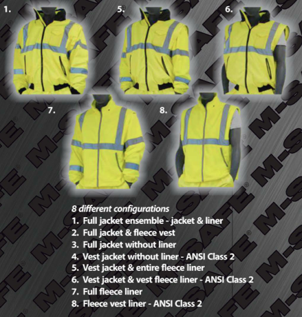 8-in-1 Bomber Jacket Configurations