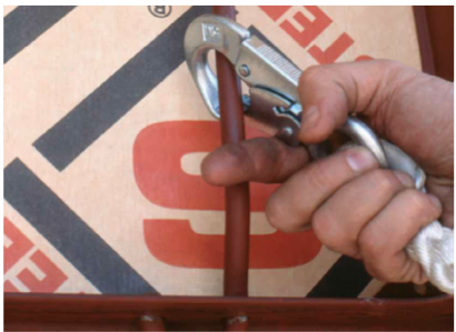 Picture of Safety Hook attaching to a Symons Steel Ply Concrete form