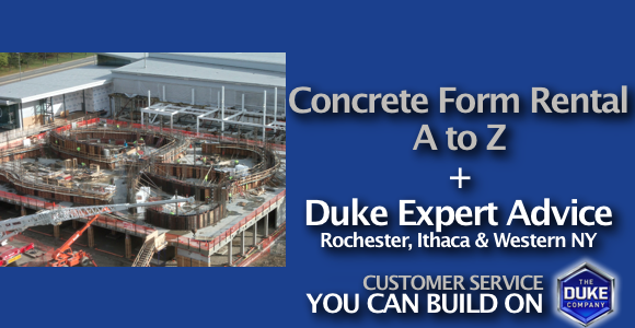 Picture of Concrete Form Rental by the Duke Company in Rochester NY, Ithaca NY and Western New York