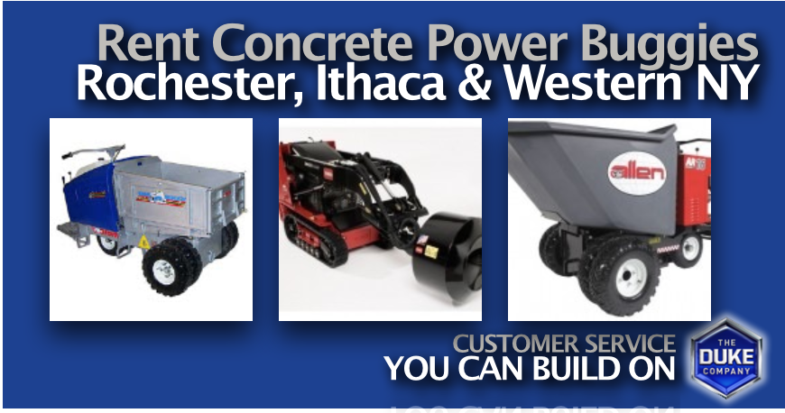 Concrete Buggy Rental Rates in Rochester, Ithaca and Buffalo