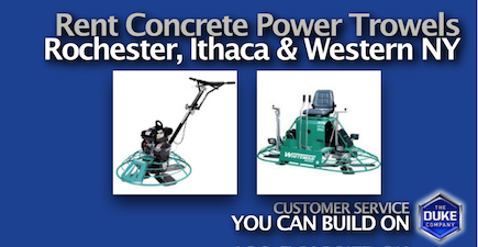 Picture of Rent Concrete Power Trowels in Rochester and Ithaca NY