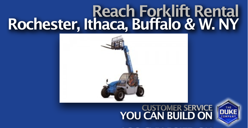 Picture of Compact Telehandler Rental in Rochester and Ithaca NY - Genie 5519 telehandler