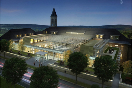 Architects Rendering of Klarman Hall at Cornell University at Night