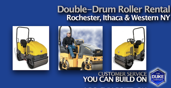 Rent Double Drum Rollers in Rochester, Ithaca and Western NY
