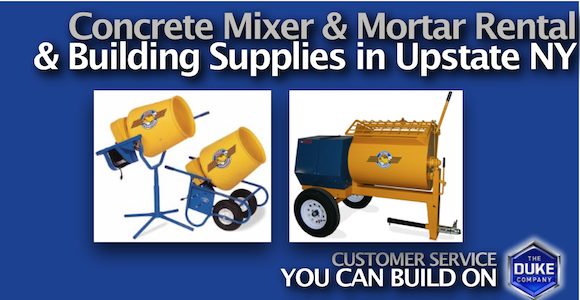Concrete Mixer Rental and Building Supplies in Upstate NY