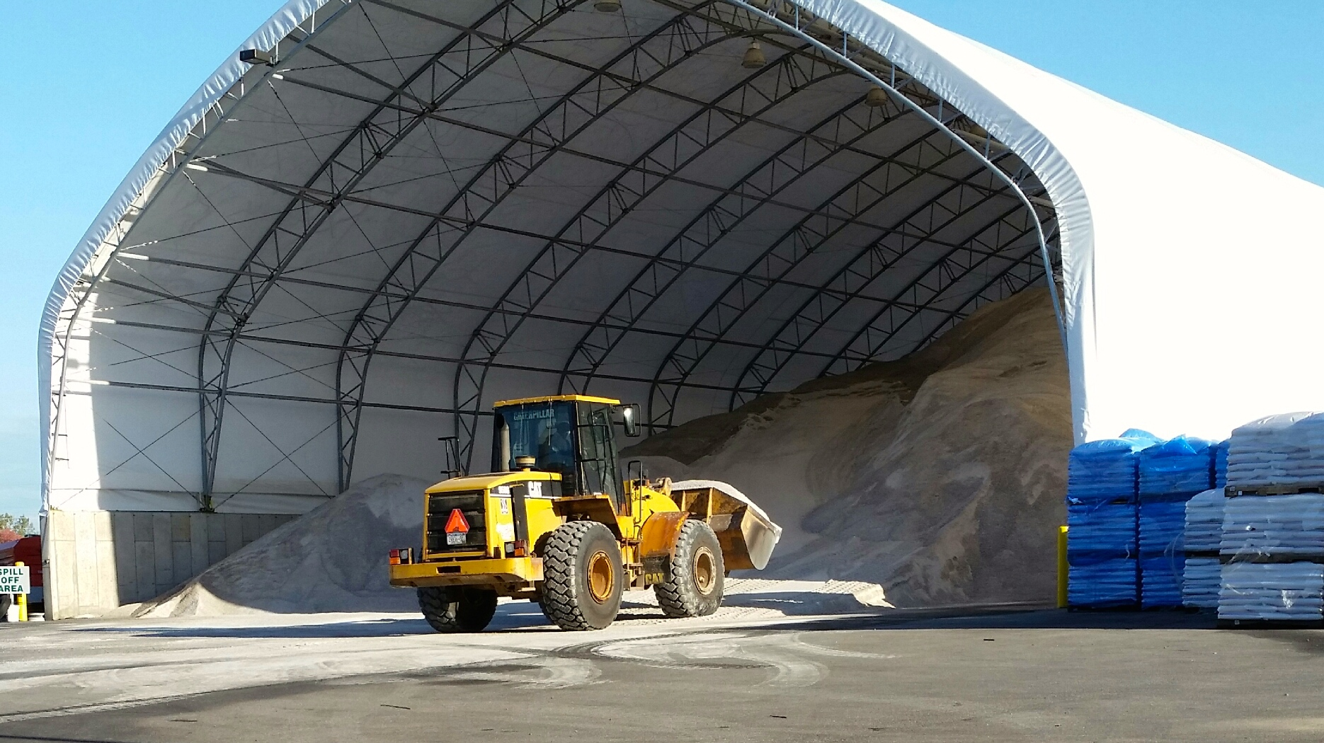 Bulk Road Salt And Deicer Barn Open Until Noon In