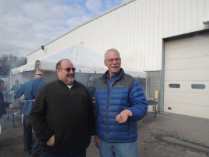 Steve Dudley wiht Equipment Rental Customer in Rochester NY
